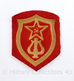 USSR Russische leger arm embleem muziekkorps - 8,5 x 6,5 cm - origineel