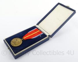 Tsjechische medaille slag om Dukla-pas 1944 - Se Sovetskym Svazem na Vecne Casy - in origineel doosje - afmeting doosje 9 x 16 cm - origineel