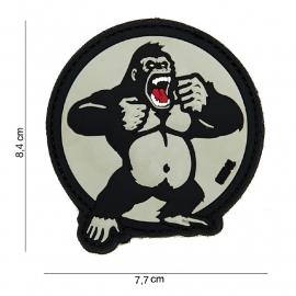 Embleem 3D PVC - met klittenband - King Kong - 7,7 x 8,4 cm