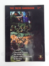 British Army The tacos handbook The Army's terms and conditions of Service  Ac83804 2002- origineel