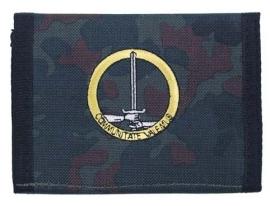 Beurs / portemonnee flecktarn met embleem GE/NL Corps Duitse-Nederlands Korps 1 German/Netherlands Corps Communitate Valemus