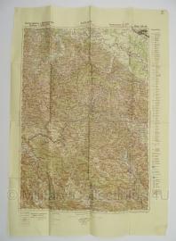 Duitse stafkaart Sonderausgabe 1940 Jugoslawien KOSTAJNICA Blatt 33/46 Joegoslavie - 70 x 50 cm. schaal 1:200000 - origineel
