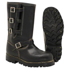Vintage Buckle boot Zwart leder - Maat 41 of 42   - ONGEDRAGEN  - origineel