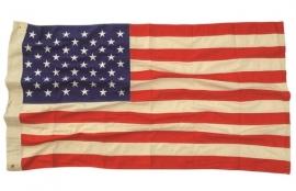 US vlag 50 sterren van katoen - verouderd