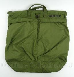 Defensie helm tas gevoerde helmtas - merk Gentex BG9003 gebruikt - afmeting 49 x 31 cm - zeldzaam - origineel