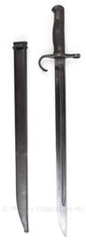 Japanse WO2 type 30 bajonet  met schede - duidelijk gestempeld - 52,5 cm - origineel