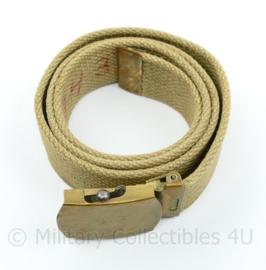 Wo2 Us Army Officer trouser belt - 89 x 3 cm - origineel