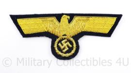 Kriegsmarine officiers adelaar - goud metaaldraad op donkerblauw