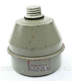 Belgisch gasmasker filter Cartouche Brevete L702 uit 1939  - origineel