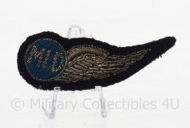 KLu Koninklijke Luchtmacht MLD Militaire Luchtvaart Dienst wing voor op de arm - zeldzaam - 7,5 x 4 cm - origineel