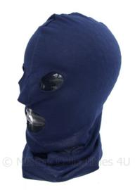NL Politie of KMAR Marechaussee balaclava/bivakmuts - blauw - one size - origineel