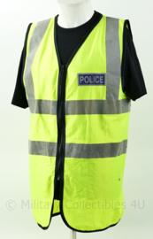Britse Politie POLICE fluor geel vest - Maat Medium - origineel