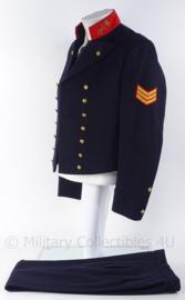 """KM Koninklijke Marine """"adelborsten baadje"""" jasje, gilet en broek - rang sergeant - 1978 - maat 48 - origineel"""
