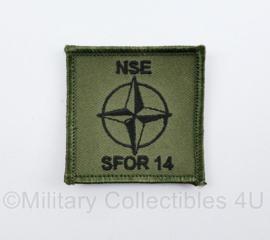 SFOR 14 NSE borstembleem met klittenband   - origineel