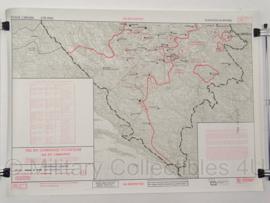 UN Profor Un Command topografische kaart 1:500 000 - 65 x 47 cm - origineel