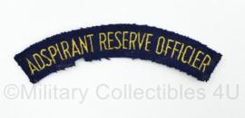 Koninklijke Marine enkele straatnaam Adspirant Reserve Officier  - 11 x 2 cm - origineel