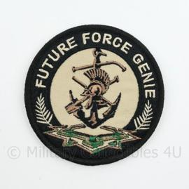 Defensie Future Force Genie embleem - met klittenband - diameter 9 cm
