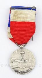 """Belgische """"honneur - travail"""" zilveren medaille - Origineel"""