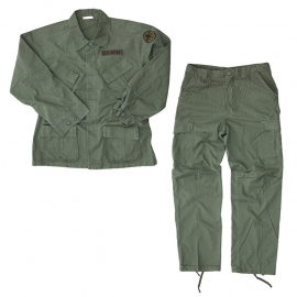 US Army Jungle Fatique jacket & trouser set groen 3rd pattern - vietnam oorlog