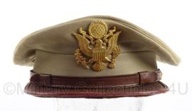 WO2 US USAAF summer visor cap groen - maat 58 - origineel