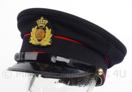 KL Koninklijke Landmacht GLT gala tenue pet - zwart met rode bies - maat 56 1/2 - origineel