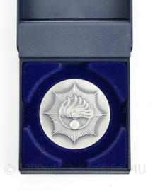 Korps Rijkspolitie coin in doosje - diameter 5 cm - origineel