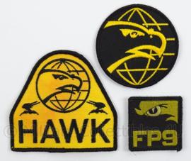 KLu Luchtmacht emblemen set FP9 Hawk Missiles - Zeldzaam ! - Origineel