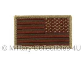 US Army American multicamo Flag met klittenband - brown thread, reversed, regulation