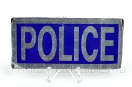 Britse Police reflectie strook met klittenband - 10 x 4,5 cm. - origineel
