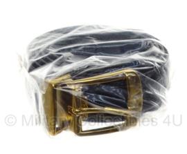 KL DT GLT broekriem 115 cm - zwart met gouden gesp - nieuw in verpakking - origineel