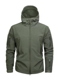 Tactical softshell jas - maat Large -  nieuw gemaakt - OD Green
