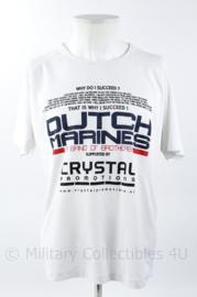 Korps Mariniers Dutch Marines Rowing challenge shirt wit - maat Medium - origineel