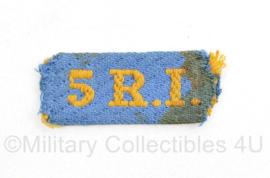 WO2 Nederlandse straatnaam 5 Regiment Infanterie  - Juni 1944 tot Nov 1946 -  5 x 2 cm - origineel