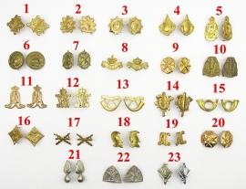 MVO uniform Schouder insigne set naar keuze (1 paar) - met splitpennen - origineel