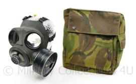 Nederlands leger gasmasker met Woodland tas - medium - vorig model - origineel