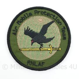 RNLAF Royal Netherlands Airforce Air Mobile Protection Team embleem  - met klittenband  - 9 cm. diameter