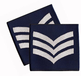 PAIR Royal Air Force Blue Rank Slides/Epaulettes  Sergeant - origineel