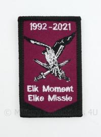 LMB Luchtmobiele Brigade 1992-2021 embleem - Elk Moment Elke Missie - met klittenband - 8 x 5 cm
