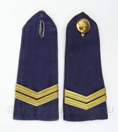 Korps Rijkspolitie te water schouder epauletten - rang Wachtmeester - afmeting 5 x 12 cm - origineel
