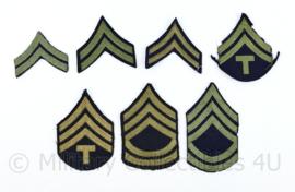 Wo2 US Army set van enkele rangstrepen - set van 7 verschillende  - origineel