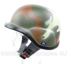 Motor & Brommer helm - Woodland camo  - Maat M of XL