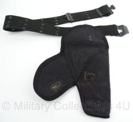 US Police Pistol Belt Zeldzaam Davis model Politie koppel met holster  -  100cm  -  origineel