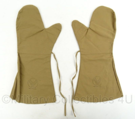 WO2 US Army Air Force USAAF Pilot Insert Gloves - maat L - Gestempeld 1943 - origneel