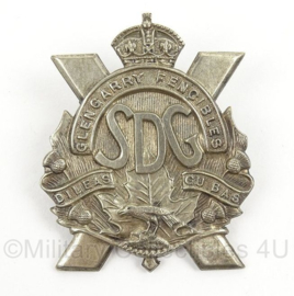 WO2 Schots hoofddeksel insigne Glen Garry Fencibles Highland cap badge - afmeting 4,5 x 6 cm - origineel