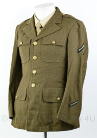 Wo2 US Army Class A jacket 1942 gedateerd - rang Private First Class PFC - size 36R = maat 46 - origineel