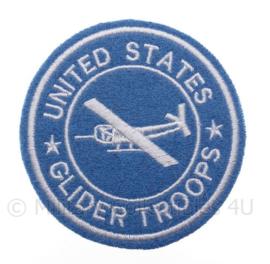 """US """"Glider Troops"""" embleem - groot formaat - diameter 9 cm - replica WO2"""