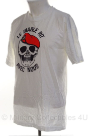 Franse Commando shirt 'le diable ritavec nous' - maat Large- origineel