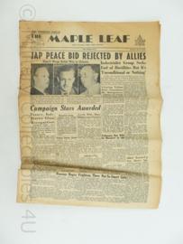 Krant Maple Leaf - 19 may 1945 -30x45 cm-  origineel