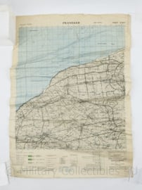 Wo2 Britse War Office kaart North West Europe Franeker 1945  - Schaal 1:50000 - 62 x 44 cm - origineel