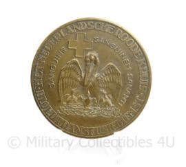 Coin Nederlandsche Roode Kruis bloedtransfusiedienst brons - origineel